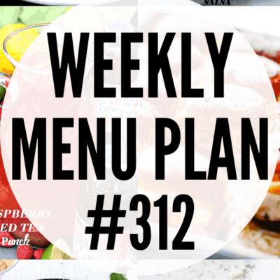 weekly menu plan 312 collage pin