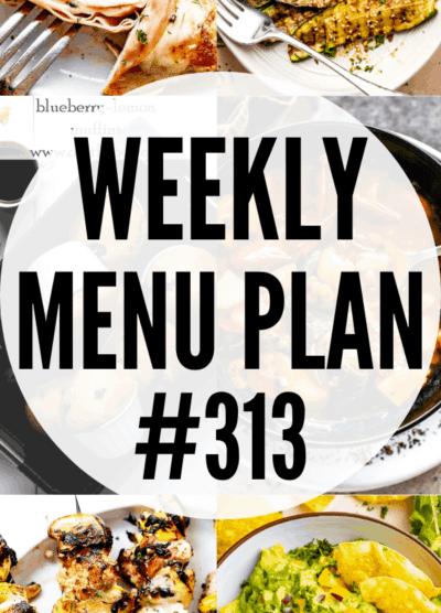 weekly menu plan 313 collage pin
