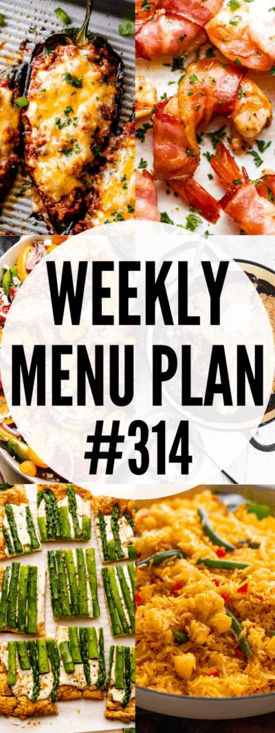 weekly menu plan 314 collage pin