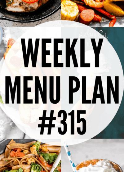 weekly menu plan 315 collage pin