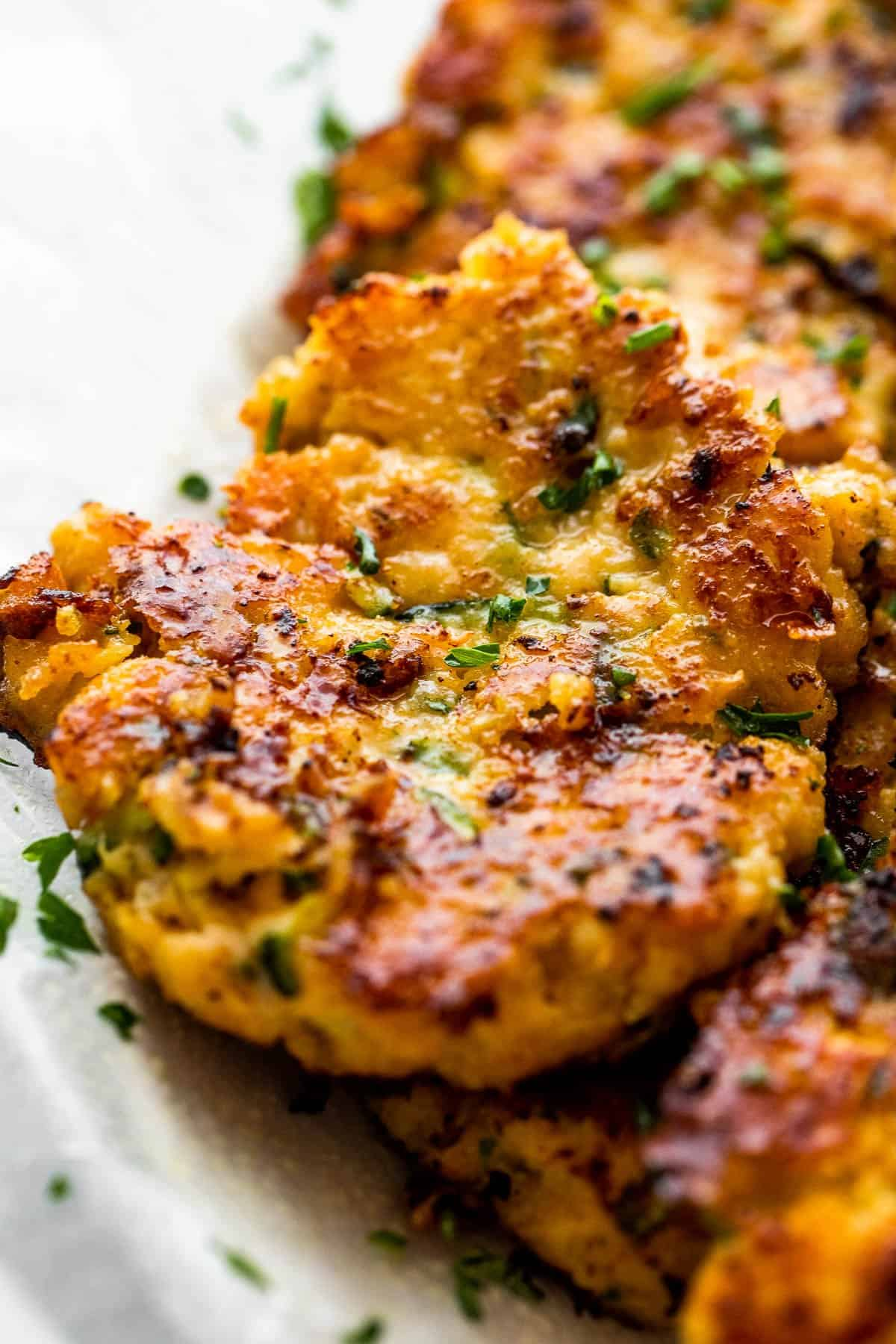 chicken fritter with zucchini