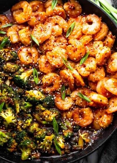 General Tso's Shrimp and Broccoli